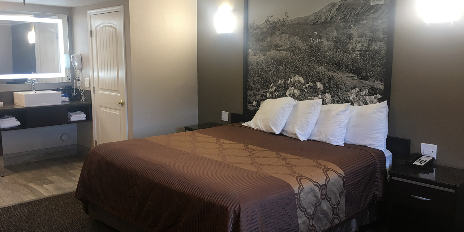 WELCOME TO HOTEL SEVILLE. BOUTIQUE HOTEL GUEST ROOMS IN THE HEART OF ONTARIO, CA
