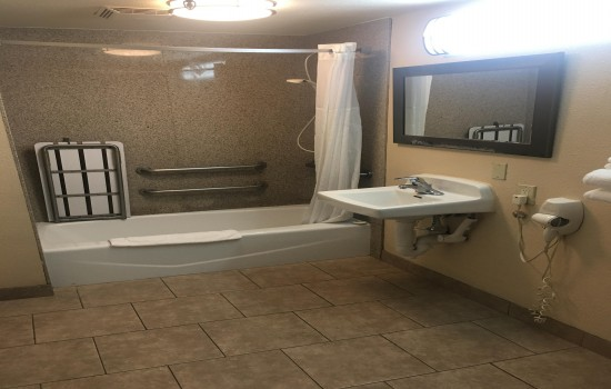 Welcome to Hotel Seville - Accessible Bathroom